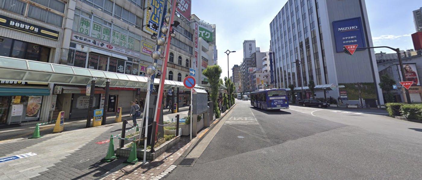 蒲田教室の道順写真 1つ目の交差点(右折)