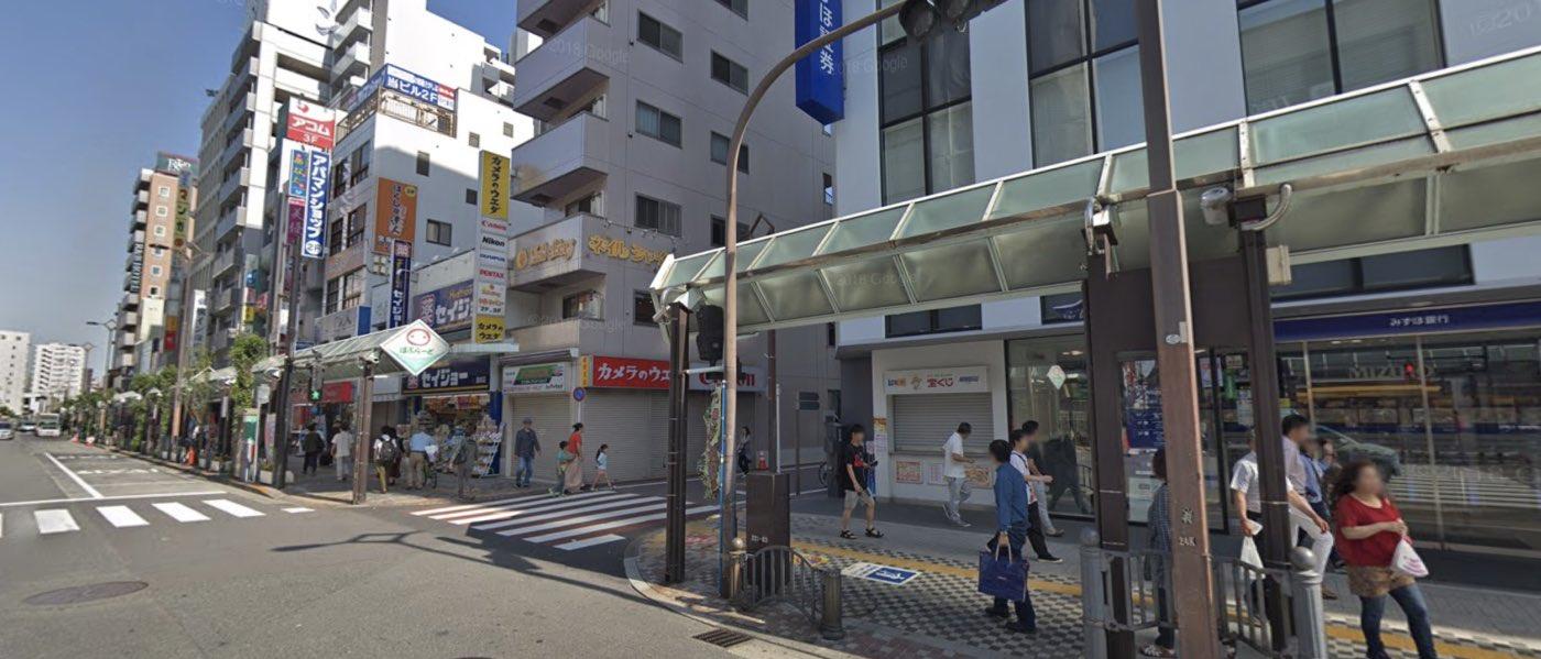 蒲田教室の道順写真 2つ目の交差点(右折)