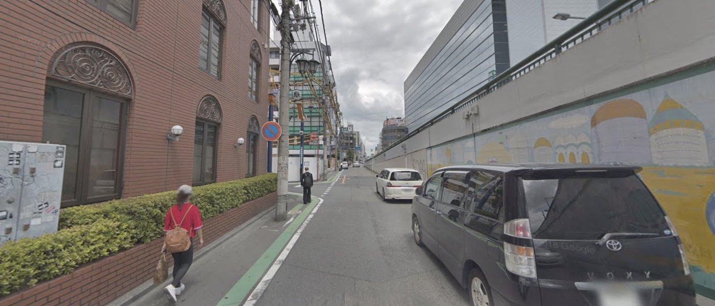 大宮校の道順写真 次の交差点を左折