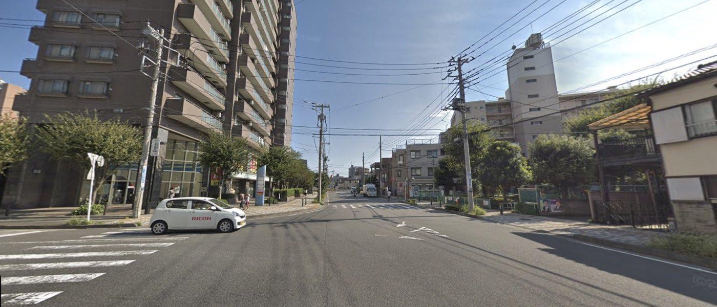 川口教室の道順写真 2つ目の交差点