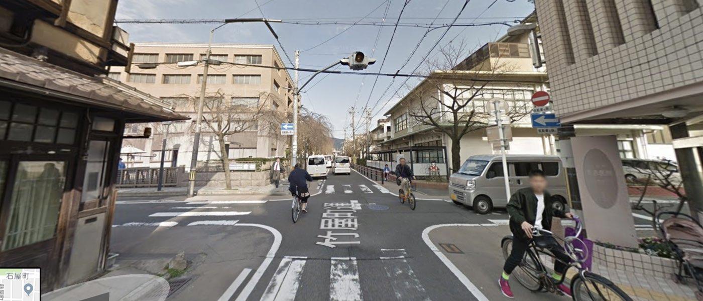 京都校の道順写真 竹屋町柳馬場通交差点