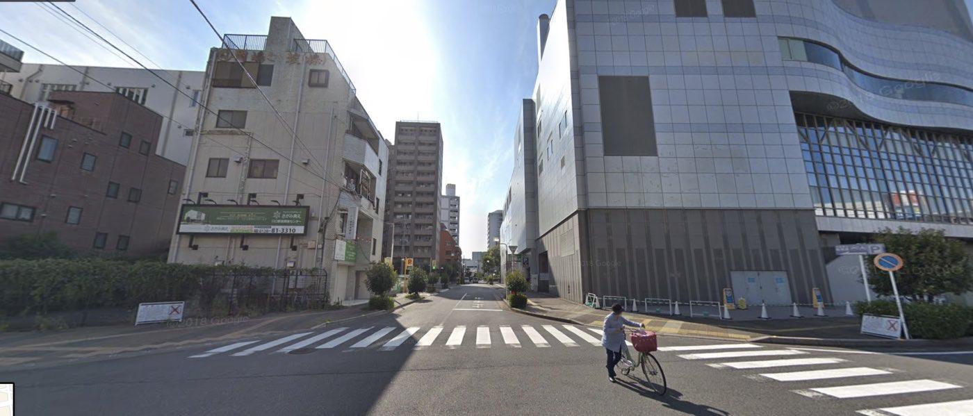 川口教室の道順写真 1つ目の交差点