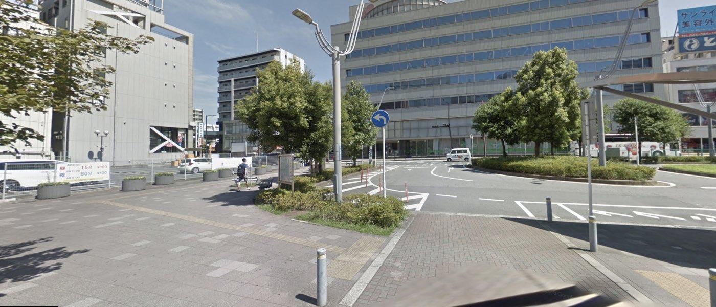 千葉指導教室の道順写真 一つ目の曲がり角(右折)