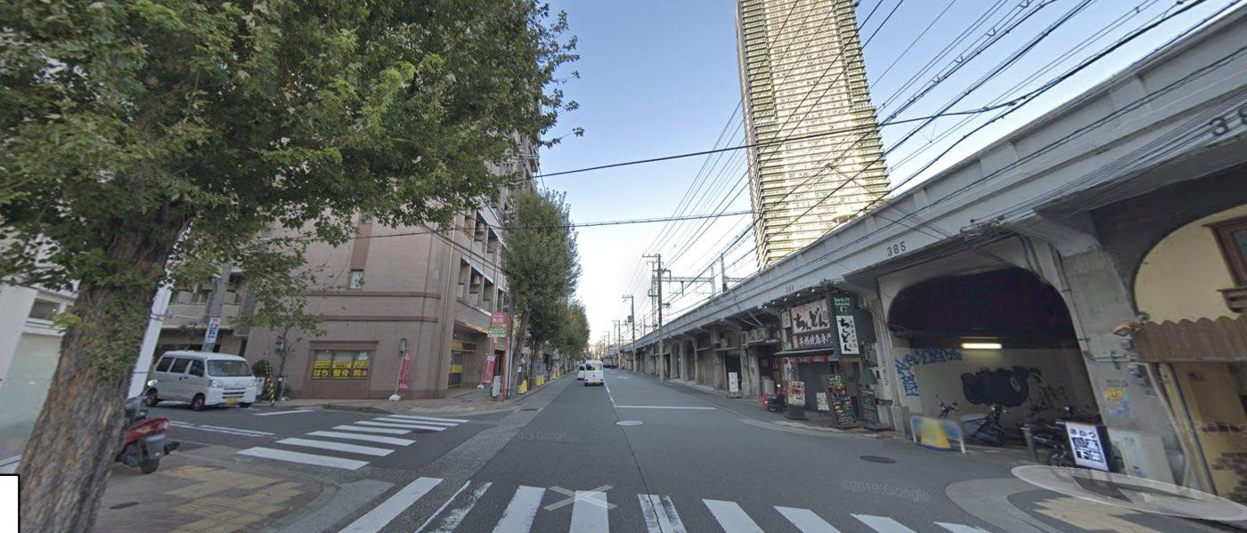 神戸校の道順写真 4つ目交差点(左折)