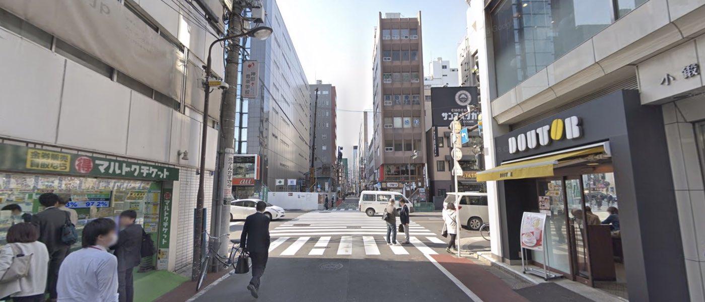 神田校の道順写真 2つ目の交差点