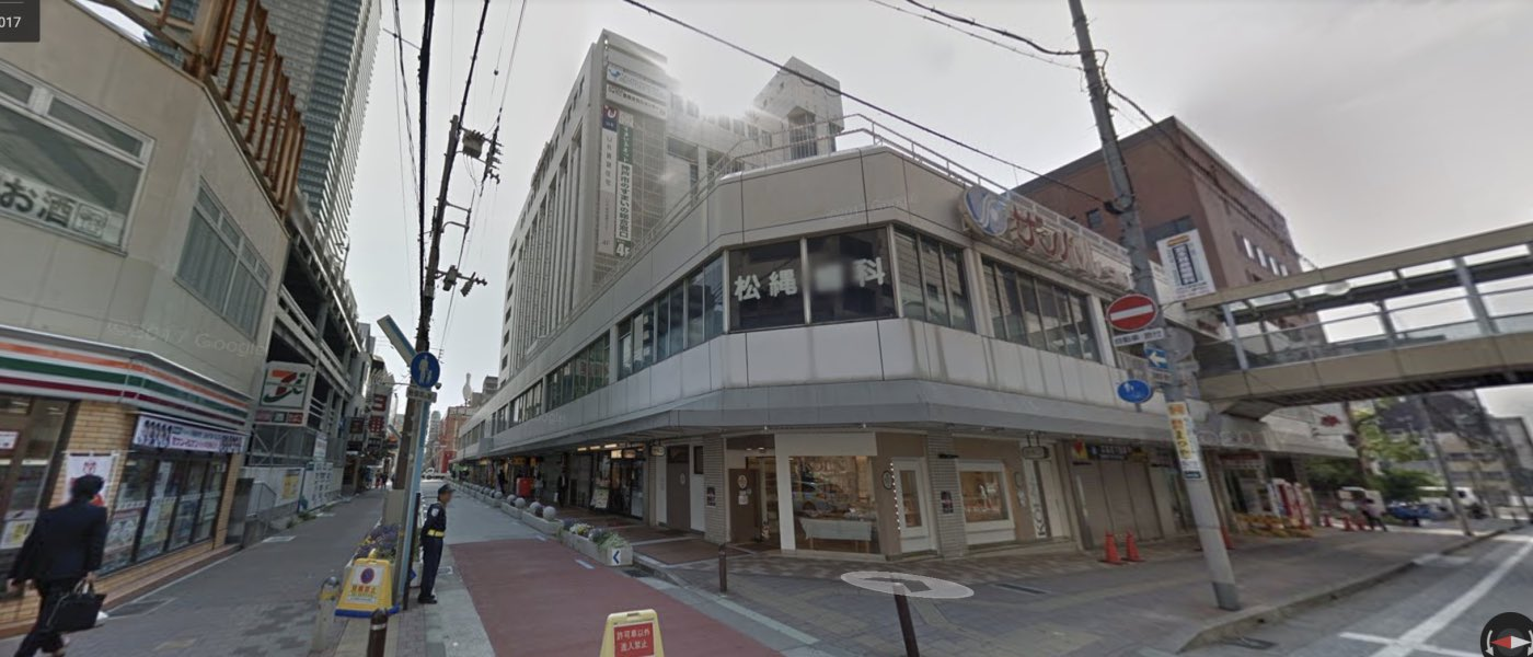 神戸校の道順写真 サンパル前交差点